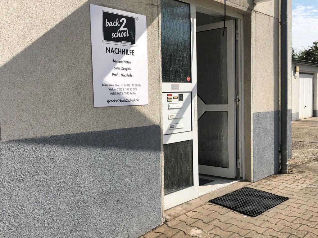 Nachhilfe in Niedersprockhövel Nachhilfe back2school Hauptstraße 73 Eingang im Hinterhaus Erdgeschoss Parkplätze vorhanden